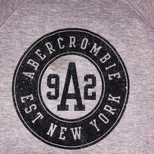 grey abercrombie kids crew neck